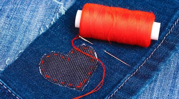 Ремонт одежды своими руками заплатка