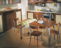Сегодня тенденция объединения кухни со столовой и гостиной как бы отходит на второй план, уступая место кухне закрытого типа