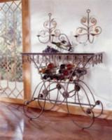 А вот оригинальный вариант кованого барного стола